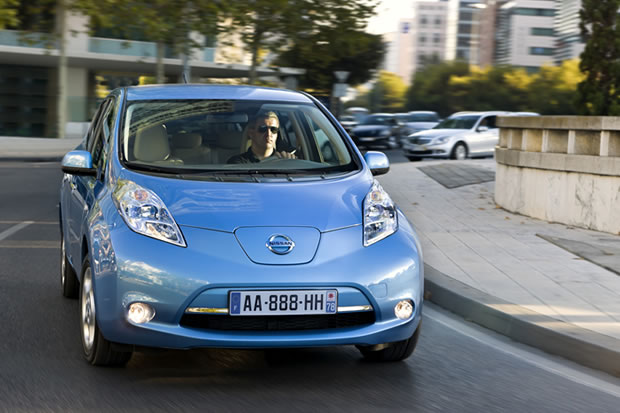 Nissan LEAF en action