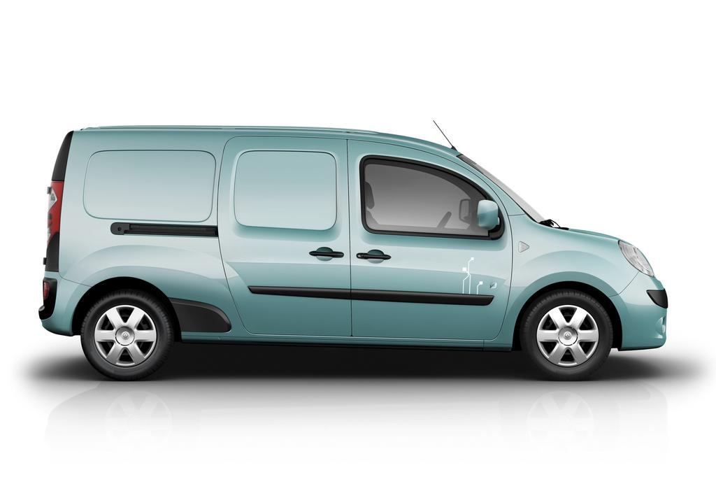 photo renault kangoo ze en version longue bleue. Black Bedroom Furniture Sets. Home Design Ideas