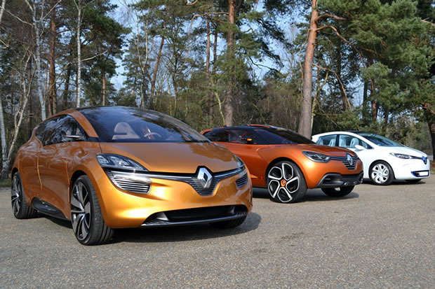Les prototypes Renault Captur, Zoé, R-Space