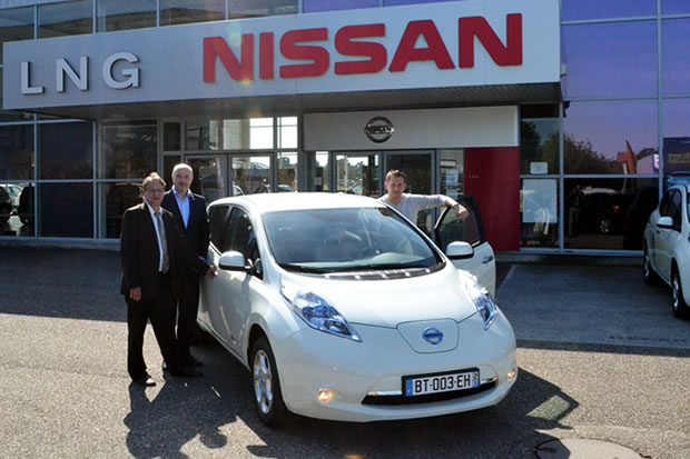 Réception de la Nissan LEAF