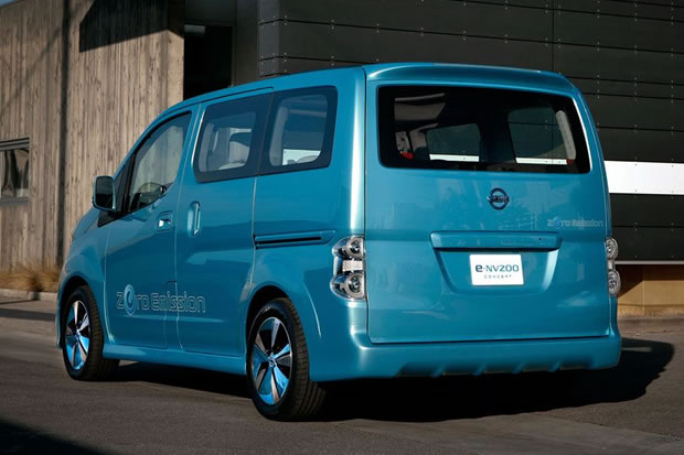 nissan e nv200 l 39 utilitaire lectrique bient t en s rie. Black Bedroom Furniture Sets. Home Design Ideas