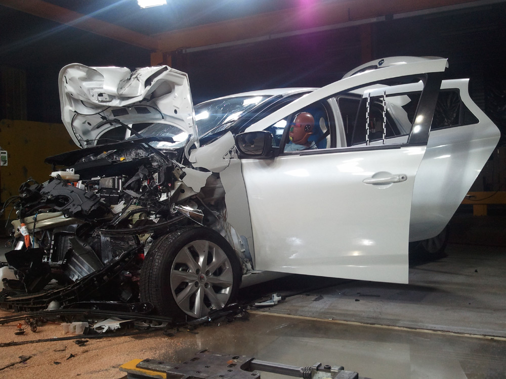 La Renault ZOE passe au crash-test
