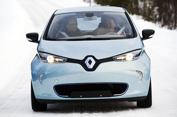 La Renault ZOE par grand froid
