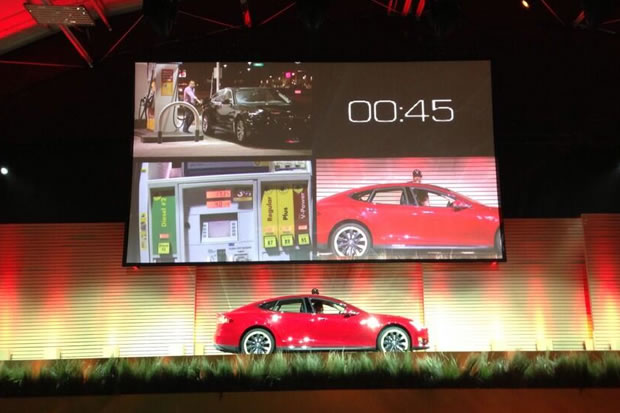 video echange batterie tesla motors