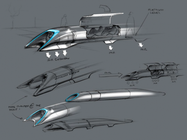 Design conceptuel d'une capsule d'Hyperloop
