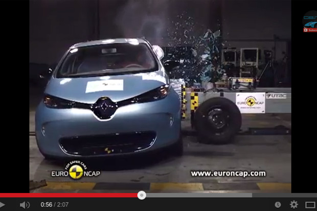 renault zoe reconnue meilleure citadine de 2013 par l euro ncap. Black Bedroom Furniture Sets. Home Design Ideas