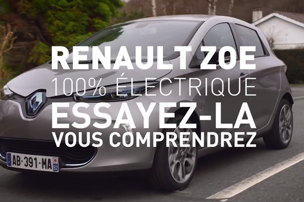 renault reprend la pub tv pour la zoe. Black Bedroom Furniture Sets. Home Design Ideas