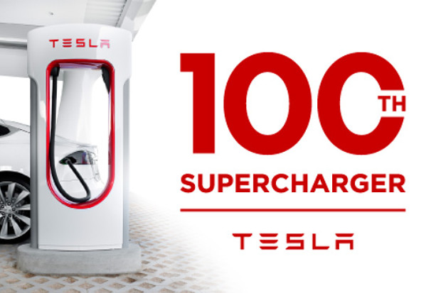 Tesla Motors installe son 100ème Supercharger