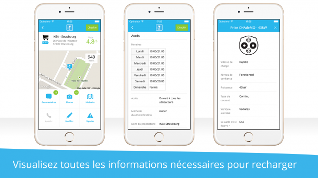 Infos ChargeMap mobile
