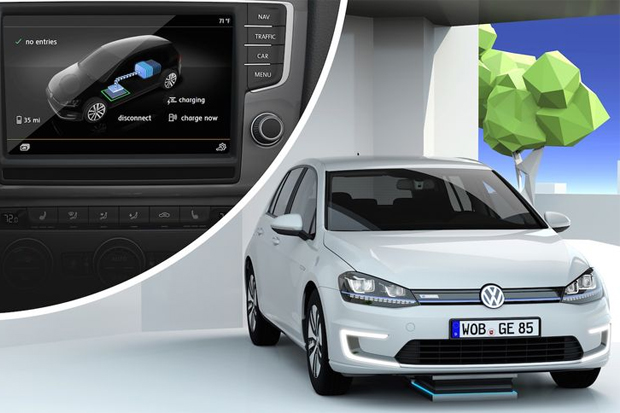 photo volkswagen syst me de charge par induction. Black Bedroom Furniture Sets. Home Design Ideas