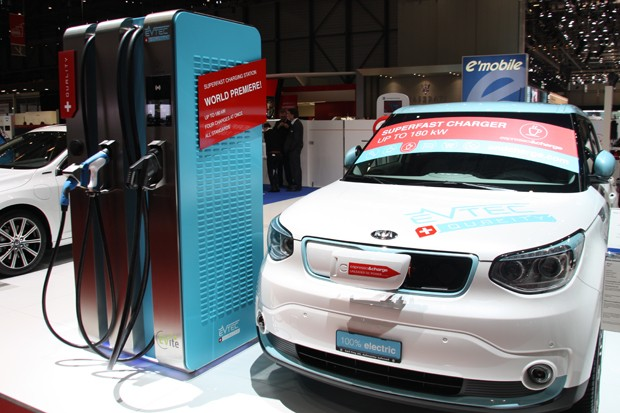 Chargeur EVTEC 180 kW AC/DC Combo CHADEMO