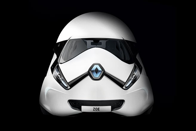 La Renault Zoé en mode Star Wars