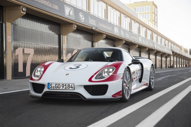 Porsche 918 Spyder Weissach Package : vue de face