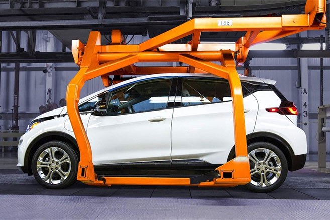 Chevrolet Bolt : GM suspend temporairement la production