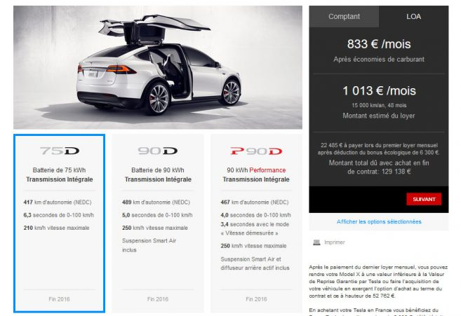 tesla model x le configurateur est en ligne. Black Bedroom Furniture Sets. Home Design Ideas