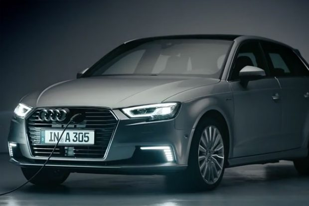 audi a3 e tron la version restyl e d couvrir en vid o. Black Bedroom Furniture Sets. Home Design Ideas