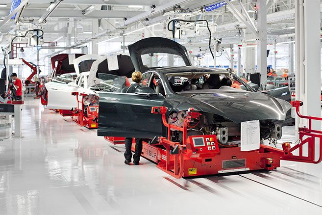 Production de la Tesla Model S