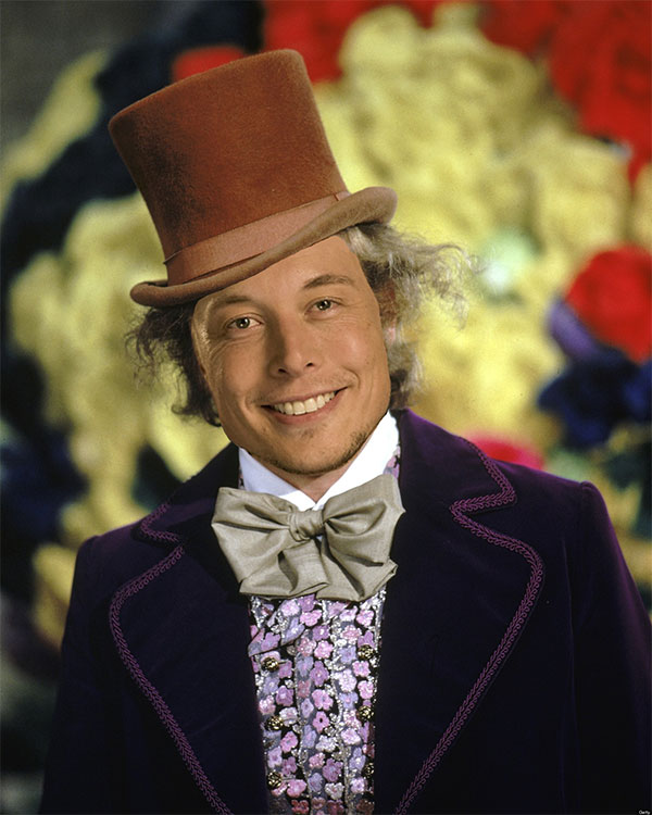 Quand Elon Musk se prend pour Willy Wonka