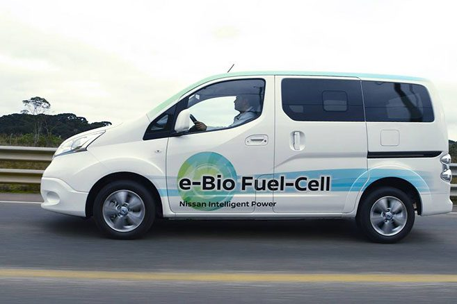 un nissan e nv200 pile combustible au bio thanol. Black Bedroom Furniture Sets. Home Design Ideas