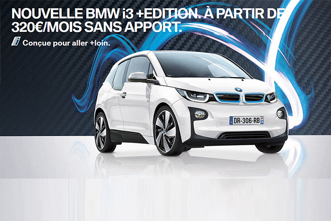 bmw i3 edition une offre lld sans apport 320 euros mois. Black Bedroom Furniture Sets. Home Design Ideas