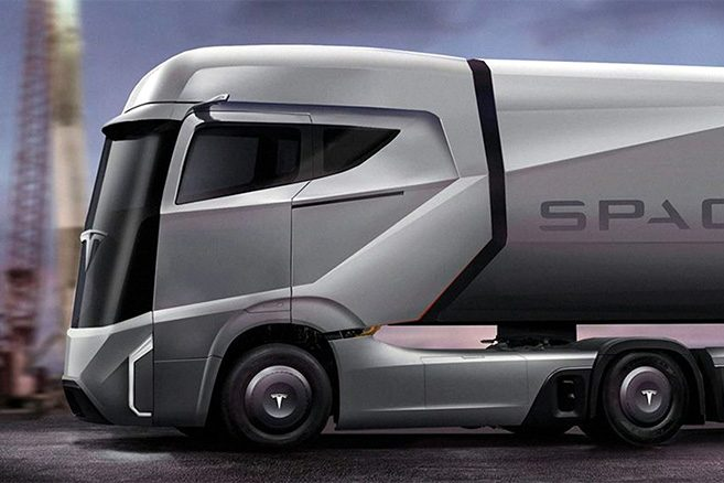 tesla pr sentera son camion lectrique en septembre. Black Bedroom Furniture Sets. Home Design Ideas