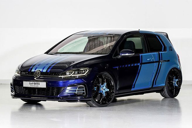 une golf gti hybride et une golf gte autonomie tendue pour volkswagen. Black Bedroom Furniture Sets. Home Design Ideas