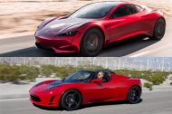 Tesla Roadster 2008 vs Tesla Roadster 2020 : le comparatif