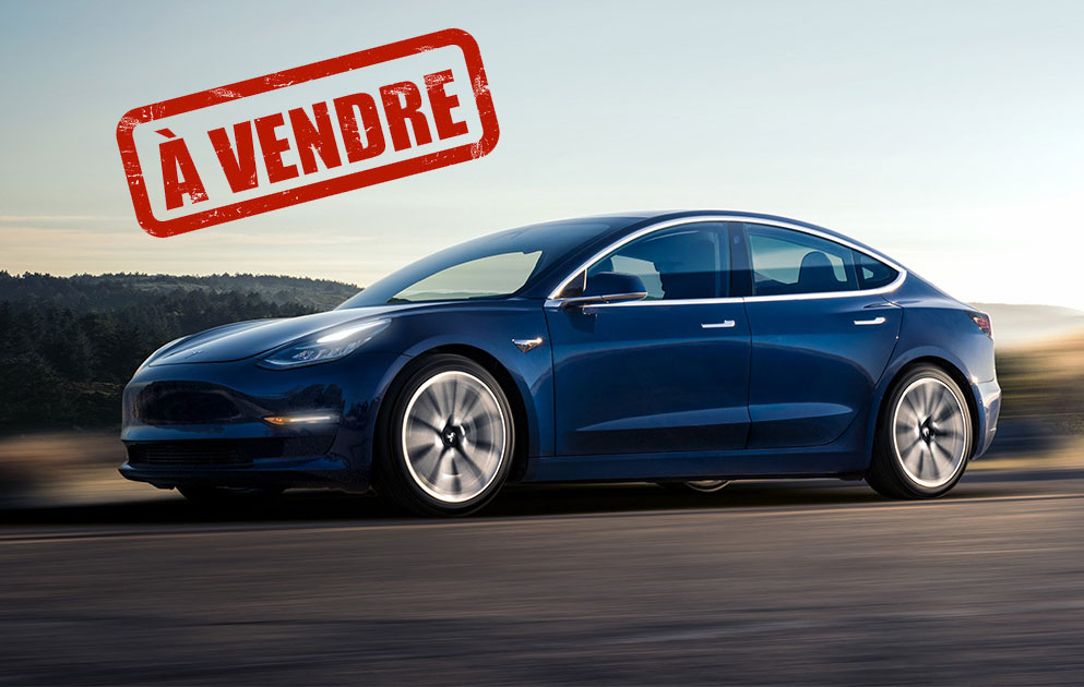 photo tesla model 3 a vendre. Black Bedroom Furniture Sets. Home Design Ideas