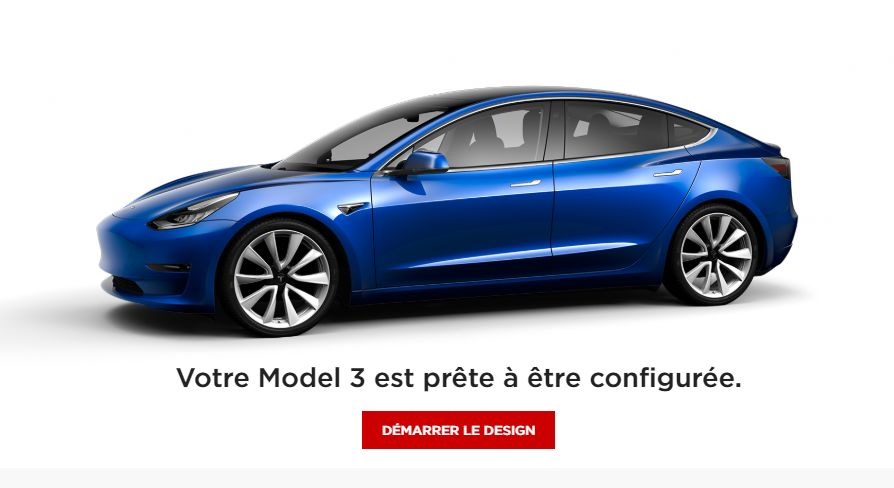 tesla model 3 d tails et images du configurateur en ligne. Black Bedroom Furniture Sets. Home Design Ideas
