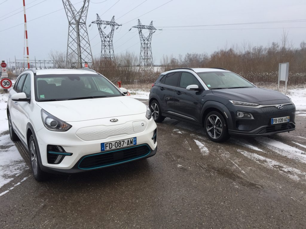 kia e niro vs hyundai kona essai comparatif des deux suv lectriques cor ens. Black Bedroom Furniture Sets. Home Design Ideas