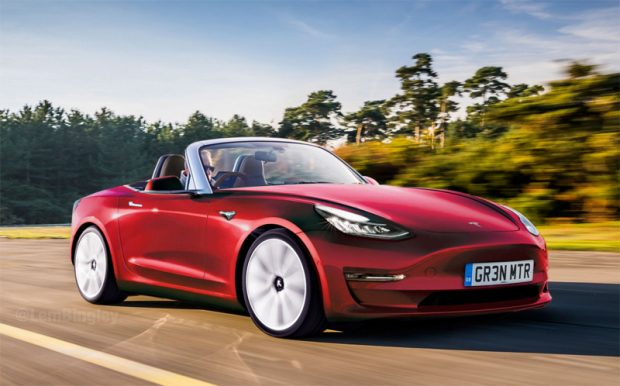 Il imagine un roadster Tesla sur la base d'une Mazda MX-5 (Miata)