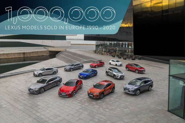 Un million de Lexus vendues en Europe, dont près de la moitié en versions hybrides