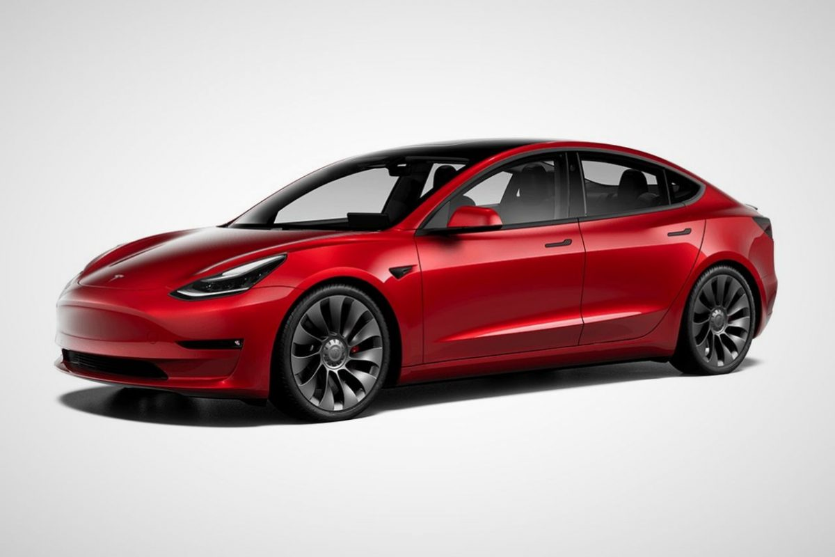 Tesla Model 3 Performance rouge 2021